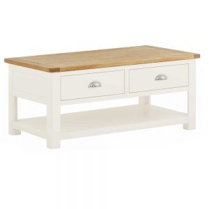 Pemberley Coffee Table With Drawer White