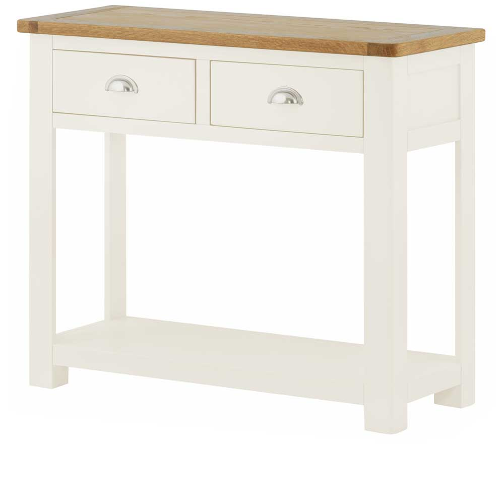 Pemberley 2 Drawer Console Table White