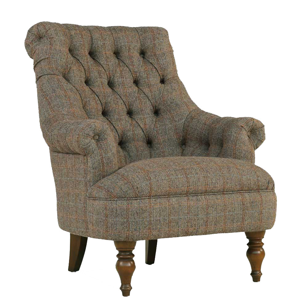 Pickering Armchair Fleck Mushroom Fabric
