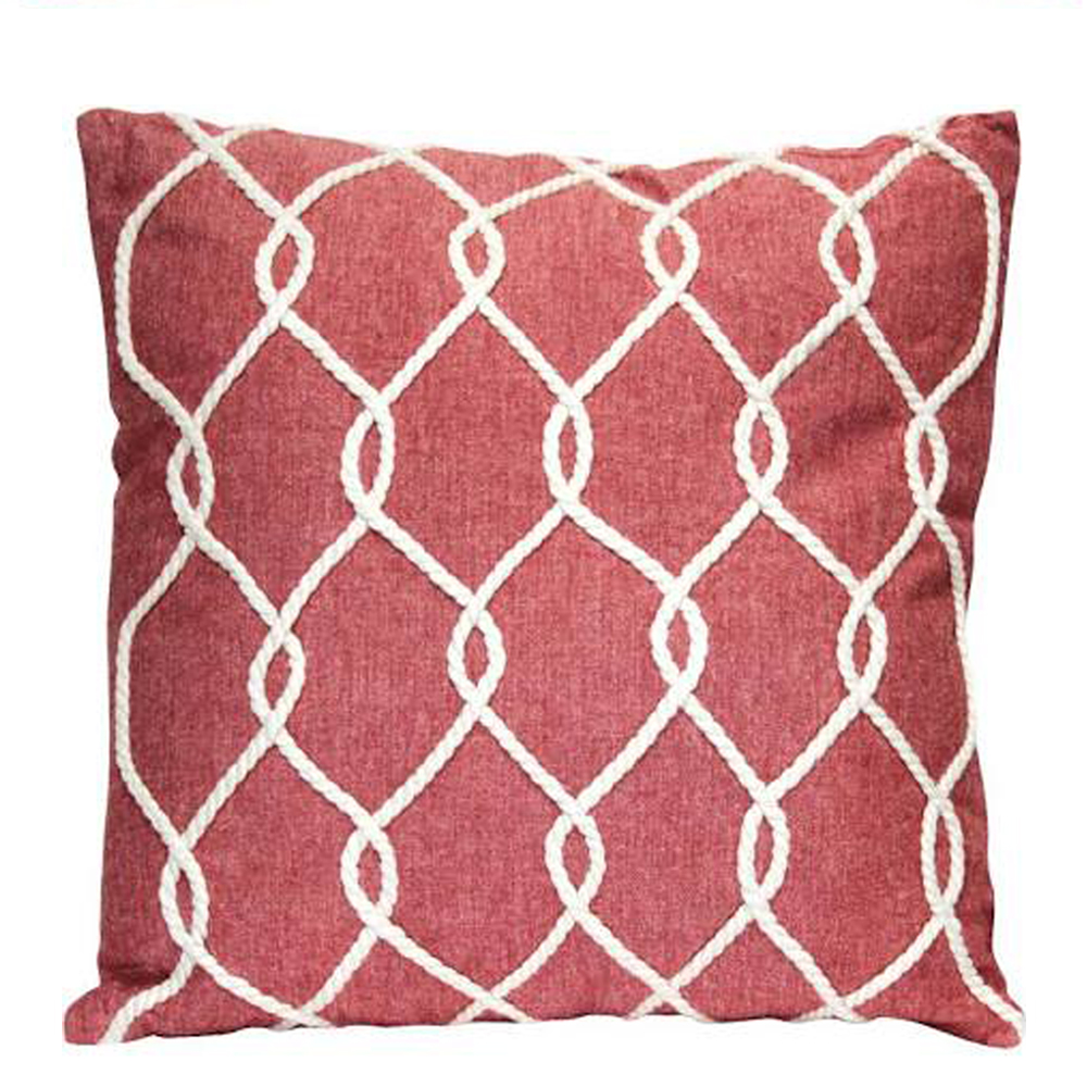 Castaway Rope Cushion Red