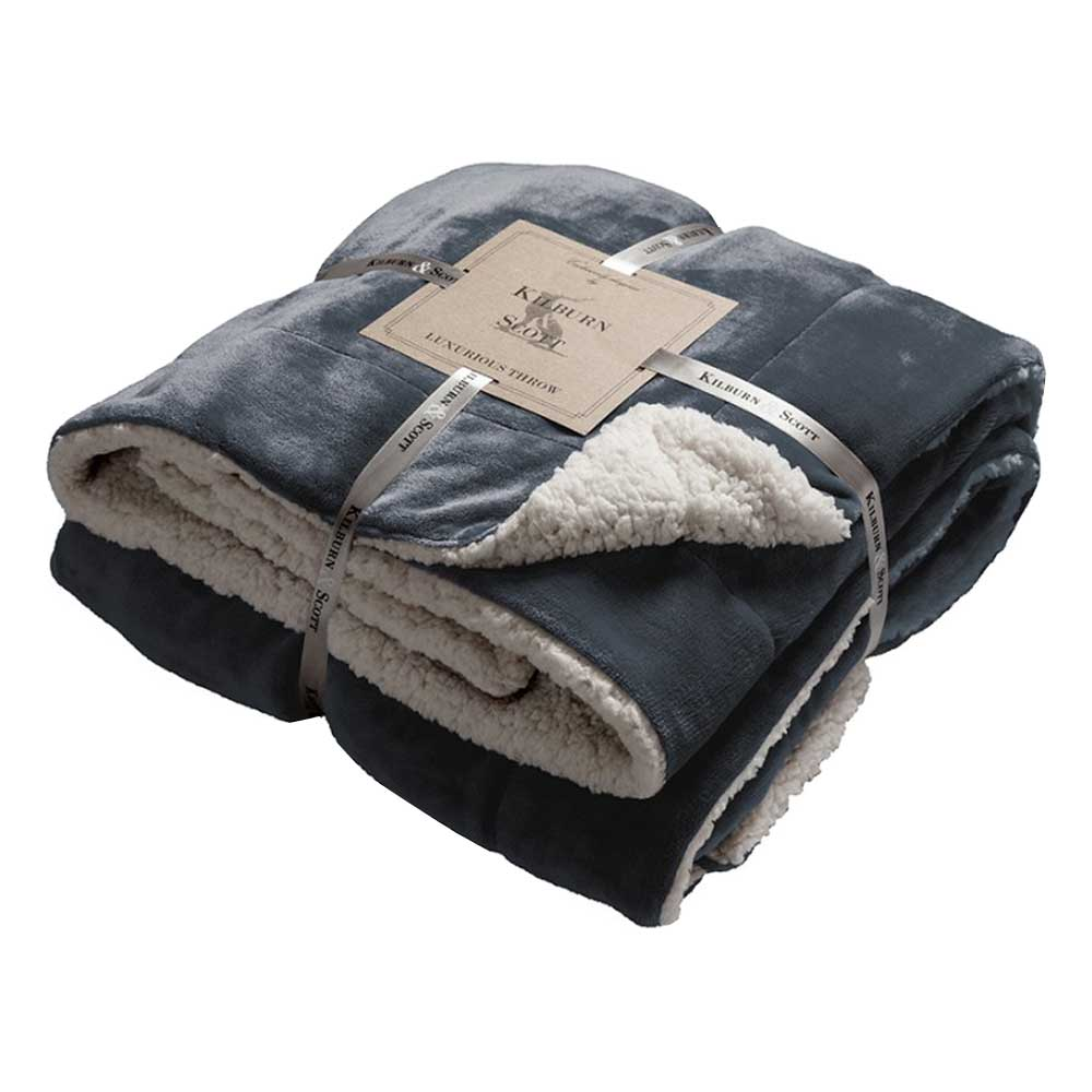 Sherpa Throw Grey