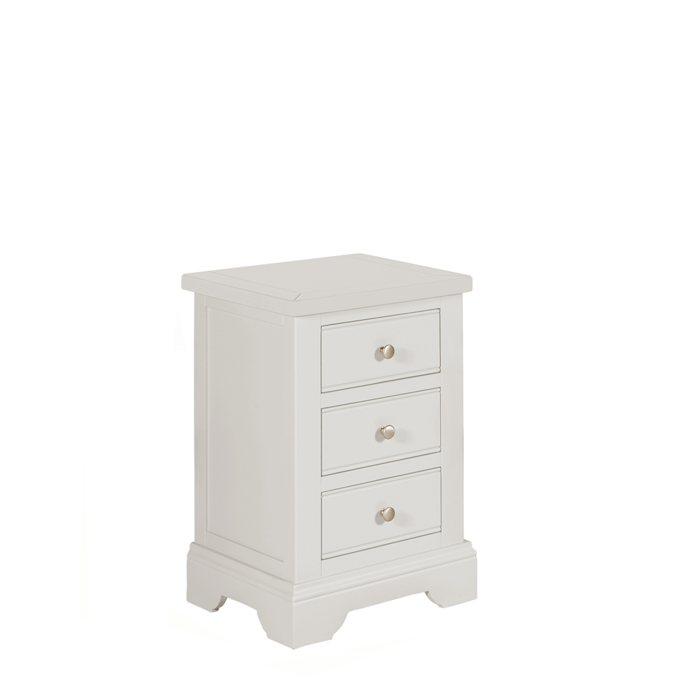 Bromley 3 Drawer Bedside Grey