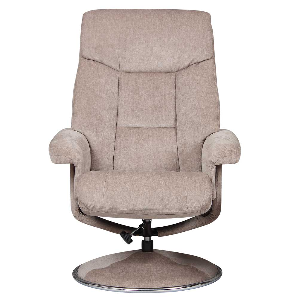 Bradfield Swivel Recliner Chair &  Footstool in Mist
