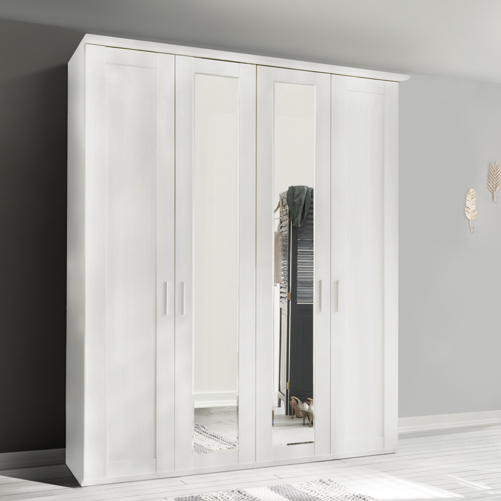 Cleveland 4 Door Mirrored Wardrobe