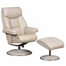Bradfield Swivel Recliner Chair &  Footstool