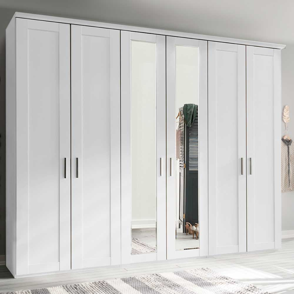 Cleveland 6 Door Mirrored Wardrobe