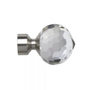 Frogbite 28mm Finial Satin Silver