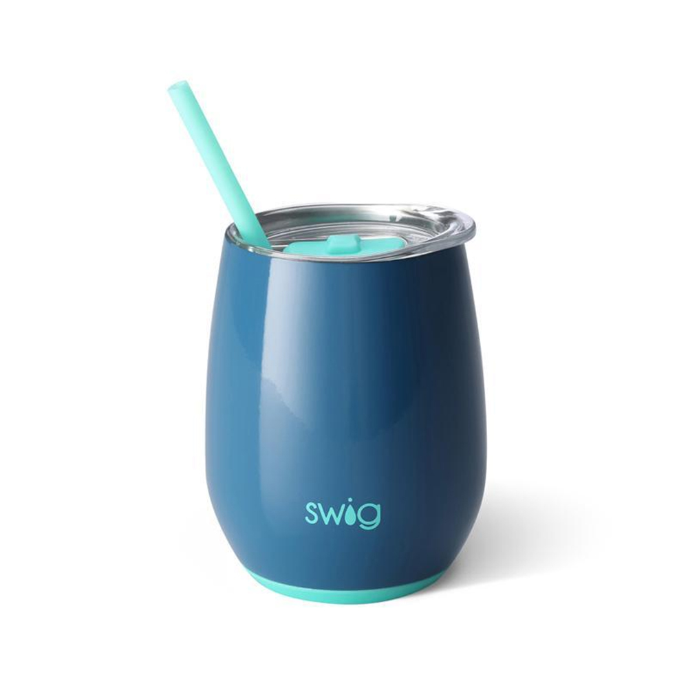 Swig Stainless Steel Stemless Wine Cup Dark Blue