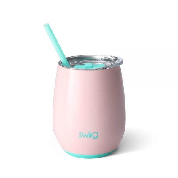 Swig Stainless Steel Stemless Wine Cup Blush
