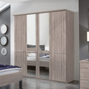 Denby 4 Door Mirrored Wardrobe