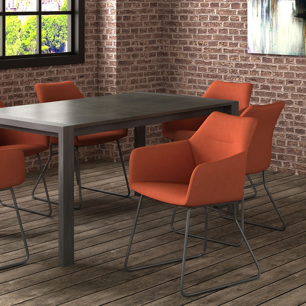 Quinton Ext Dining Table & 4 Marham Dining Chairs