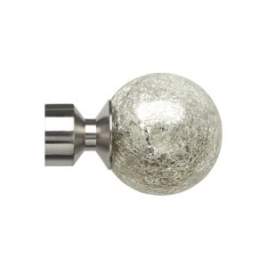 Saxifrage 28mm Satin Silver Finial