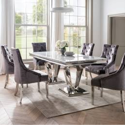 Amalfi 2000 Dining Table & 4 Bella Dining Chair