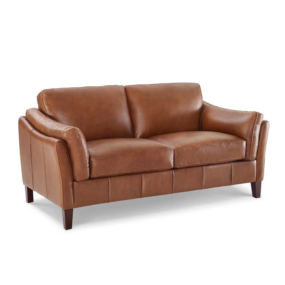 LYON 2 STR SOFA - VOYAGER MALT 1521 LEATHER / UK STOCK