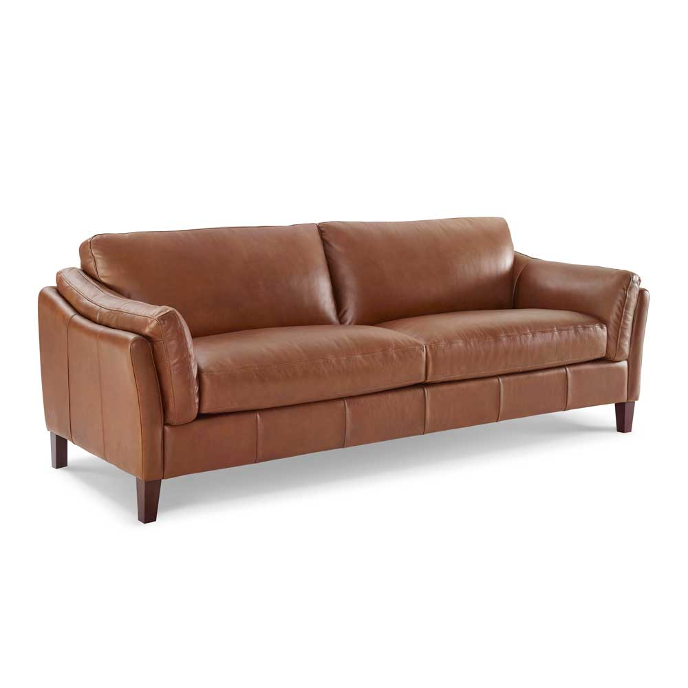LYON 2.5 STR SOFA - VOYAGER MALT 1521 LEATHER / UK STOCK