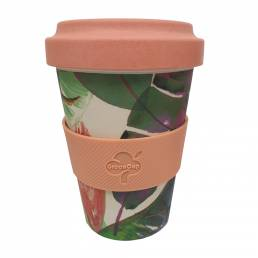 Bamboo Fibre Reusable Mug Tropical Birds 500ml