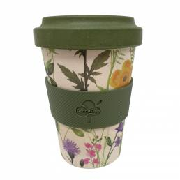 Bamboo Fibre Reusable Mug Floral 500ml