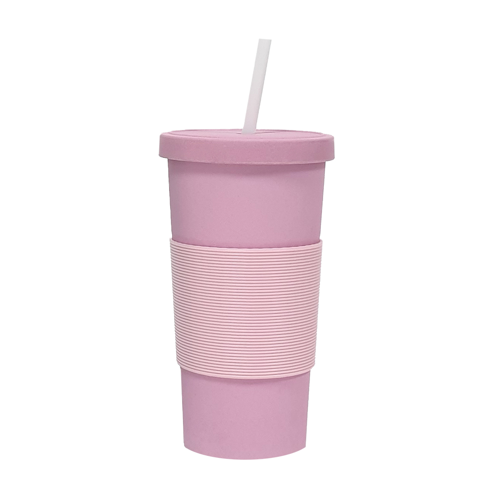 Bamboo Fibre Reusable Cup Pink 750ml