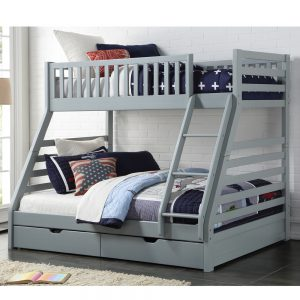 Mars Triple Bunk Bed Grey