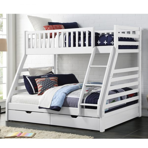 Mars Triple Bunk Bed White