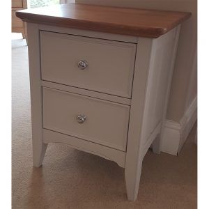 stag new england 2 drawer bedside