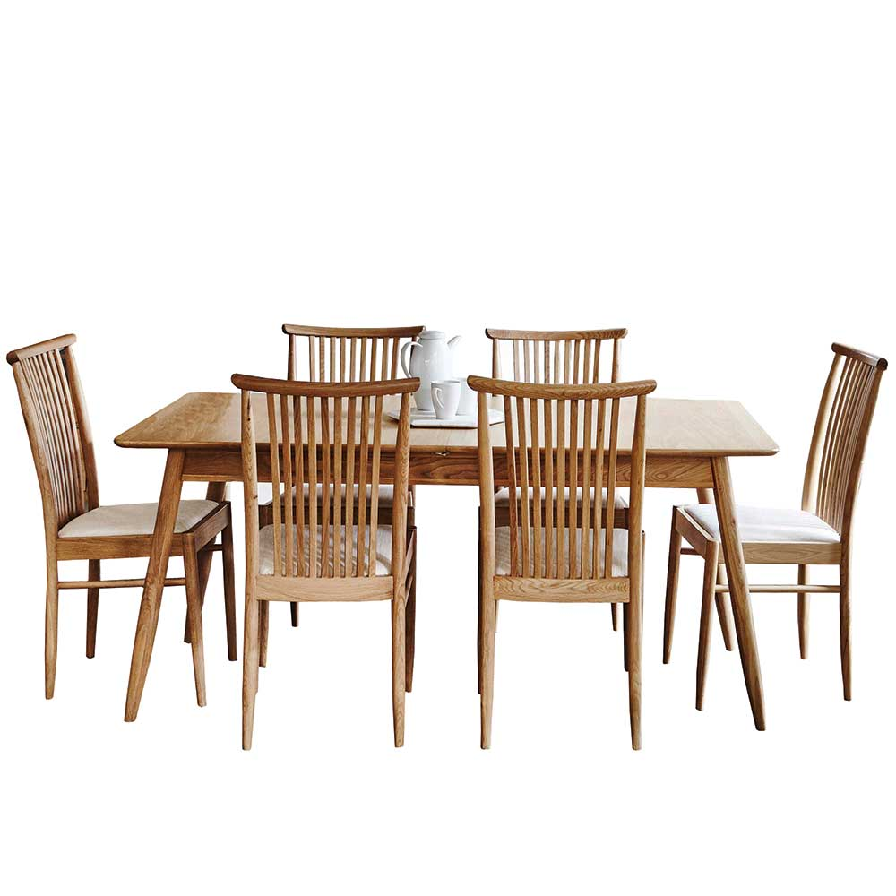 Ercol Teramo Extending Dining Table & 6 Chairs