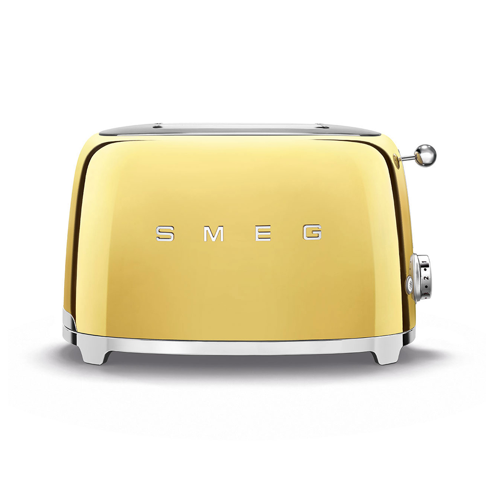 Smeg 2 Slice Toaster Gold