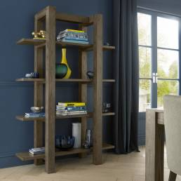 Thornbury Dark Oak Open Shelf Unit