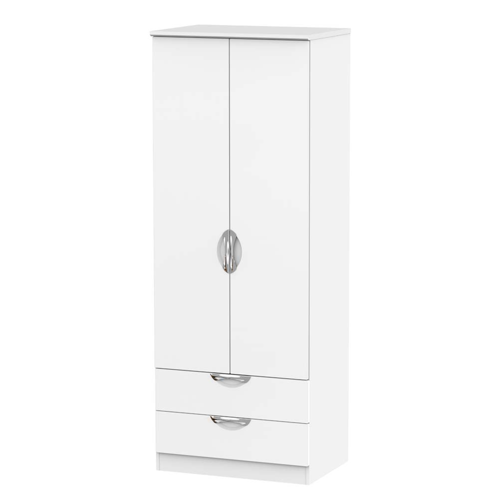 Chicago Tall 2 Drawer Wardrobe