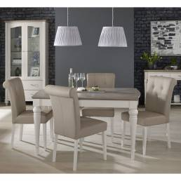 Monaco Table & 4 Upholstered Chairs