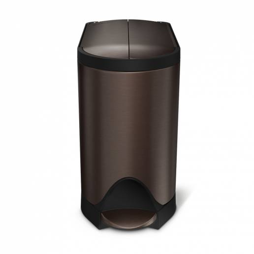 Simple Human 10L Butterfly Pedal Bin Dark Bronze