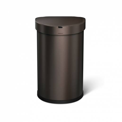 Simple Human 45L Semi Round Sensor Bin Dark Bronze