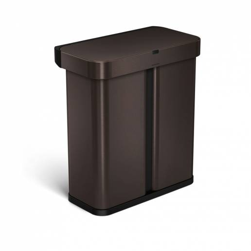 Simple Human 58L Rect Sensor Bin Voice/Motion Control Bronze