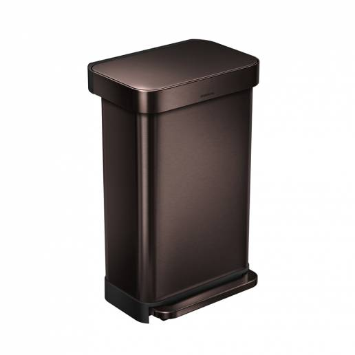Simple Human 45L Rectangular Pedal Bin Dark Bronze