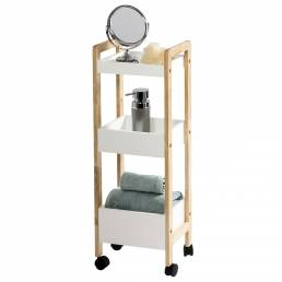 Showerdrape Santana 3 Tier Bathroom Trolley