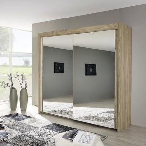 Imola 2 Door Mirrored Robe Sonoma Oak Finish