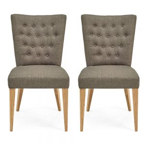 Hillingdon Oak Upholstered Chair - Fabric (Pair)
