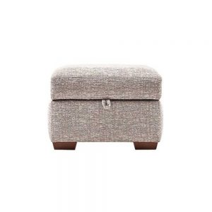 MELISSA STORAGE FOOTSTOOL - FABRIC /
