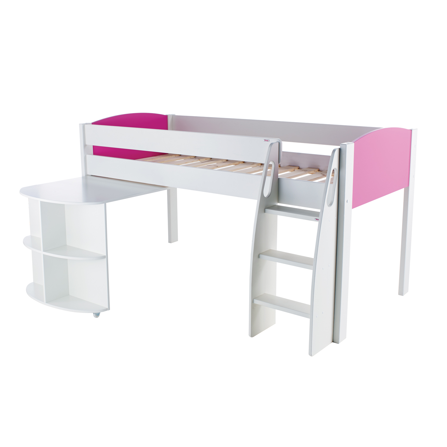 Stompa Duo Uno S Midsleeper And Pull Out Desk Pink