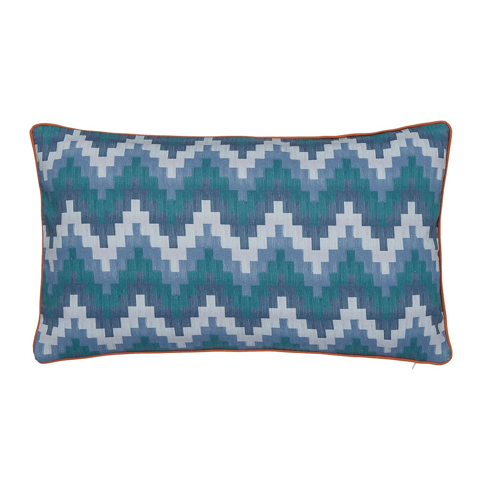 V&A Everlasting Bloom Cushion Blue 50 x 30cm