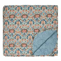 William Morris Little Chintz Bedspread Teal 265 x 260cm