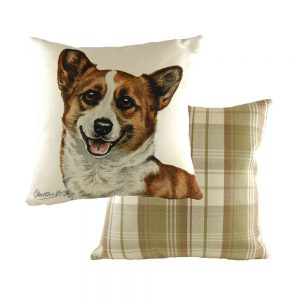 Boston Corgi 43cm Cushion