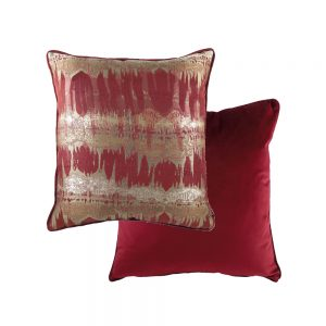 Inca 43cm Burgundy Cushion