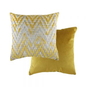 Marrakesh 43cm Chevron Gold Cushion