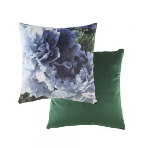 Photo Florals 43cm Blue Cushion