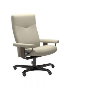 DOVER (M) 1346096 OFFICE CHAIR (WOOD TRIM) / FABRIC /