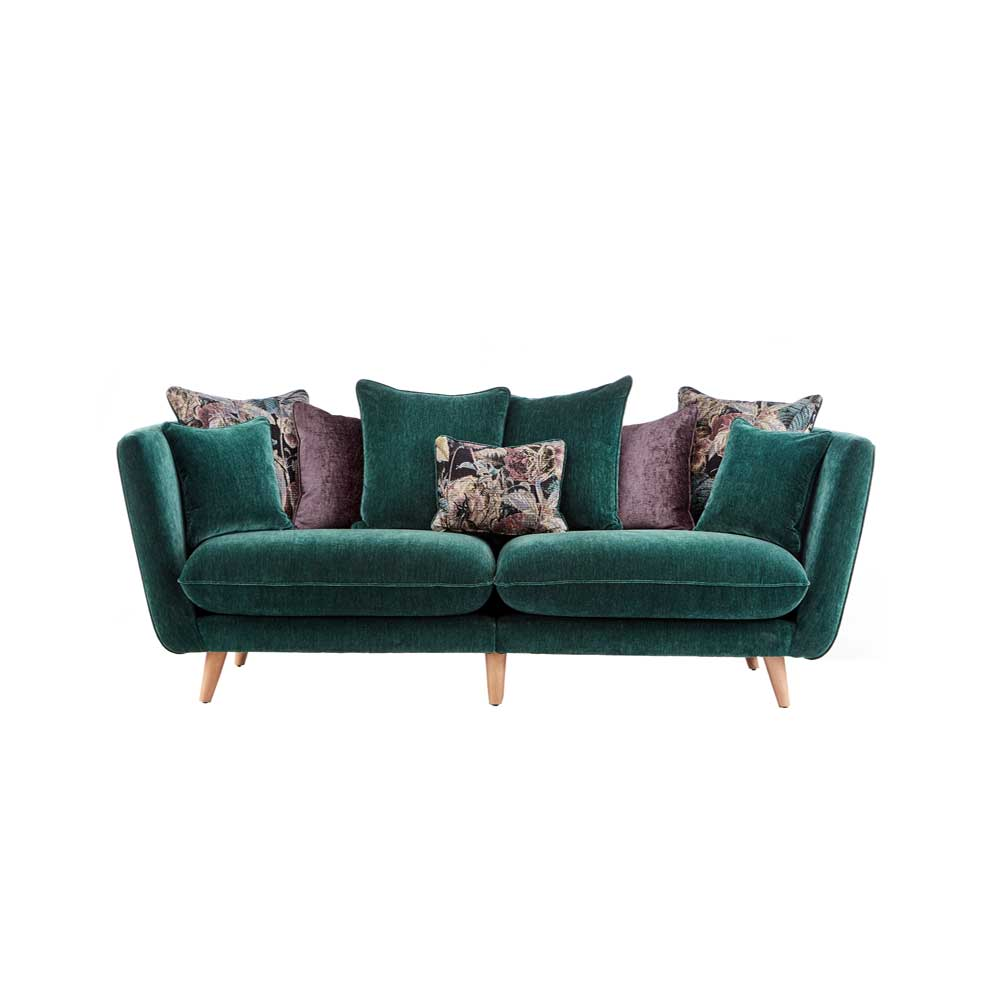 TAYLOR 2 STR SML PILLOWBACK SOFA /  VELLUTO FABRIC