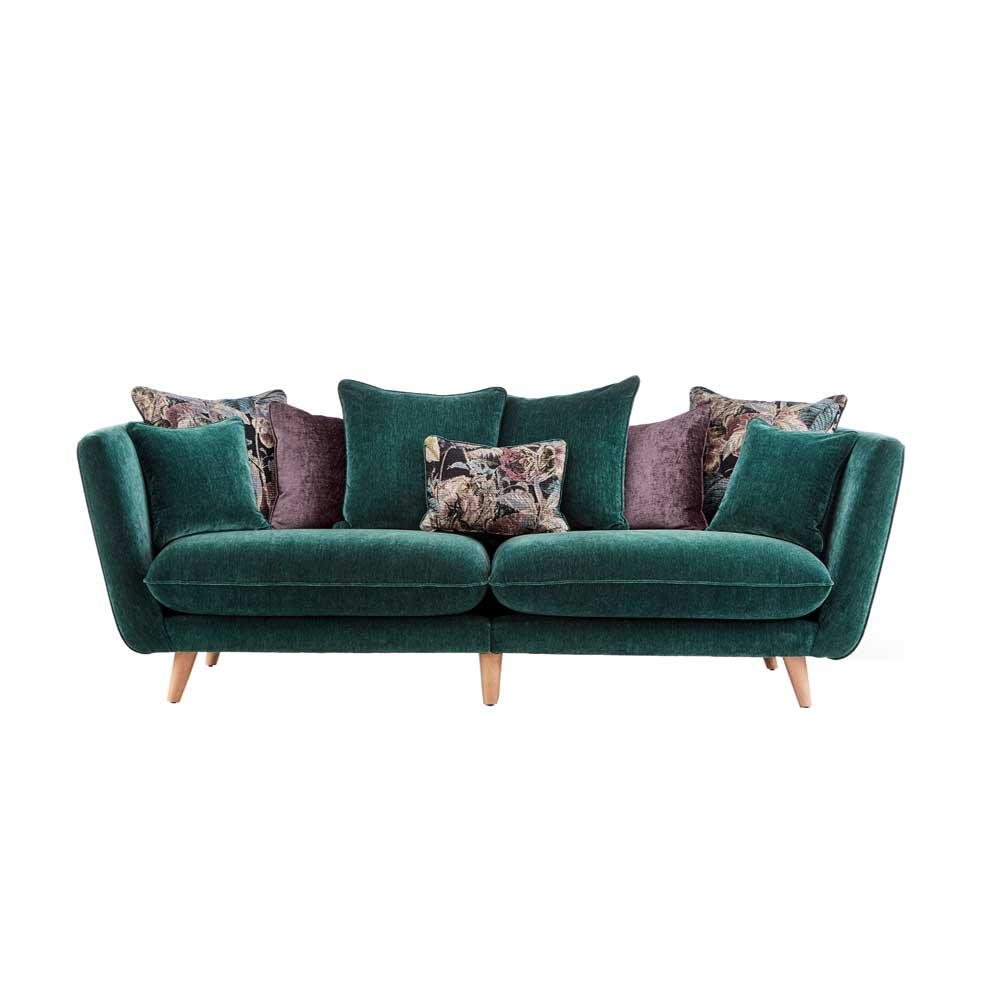 Taylor 3 Seater Large Pillowback Sofa (Velluto) fabric