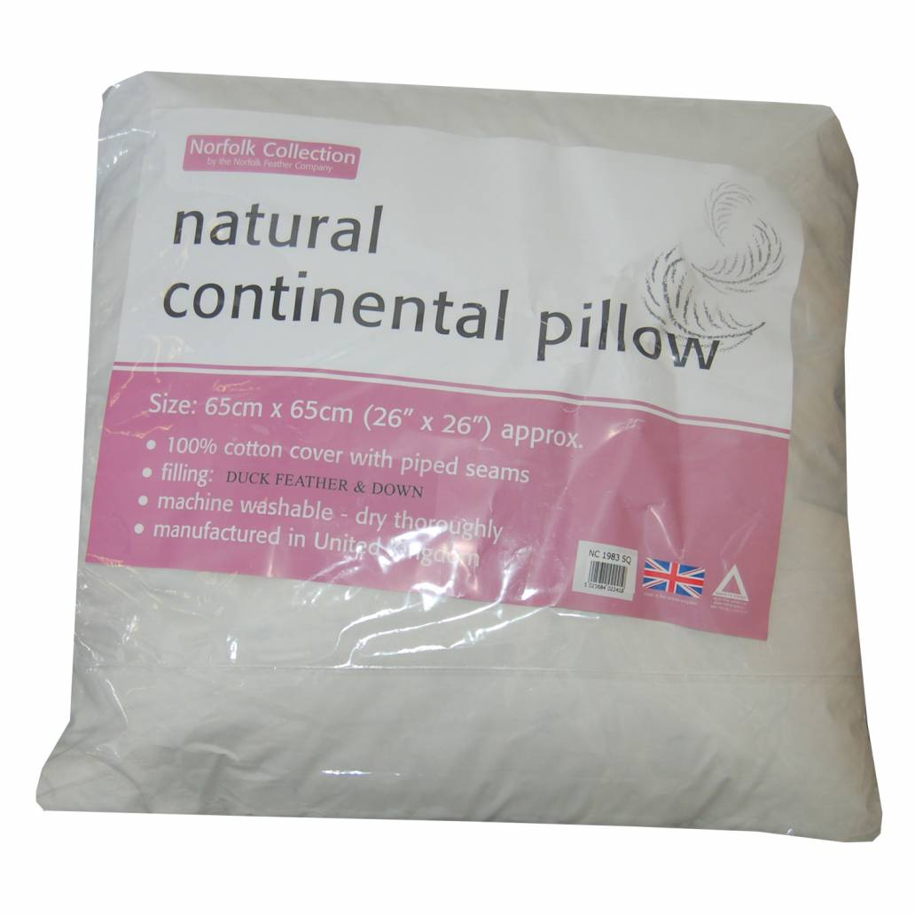 Natural Continental Pillow