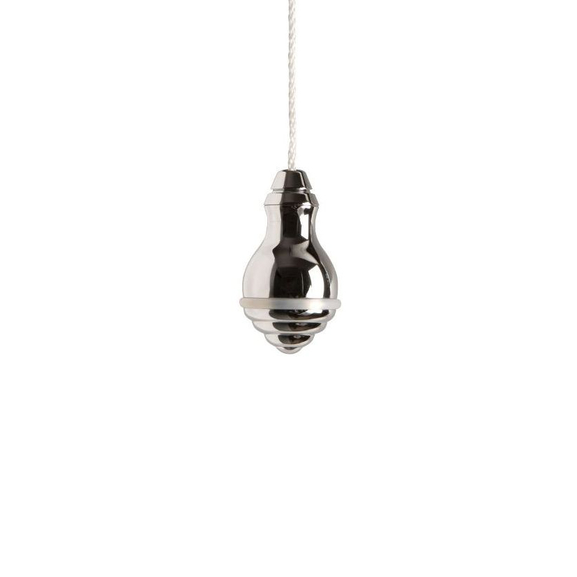 Classic Large Acorn Chrome Light Pull